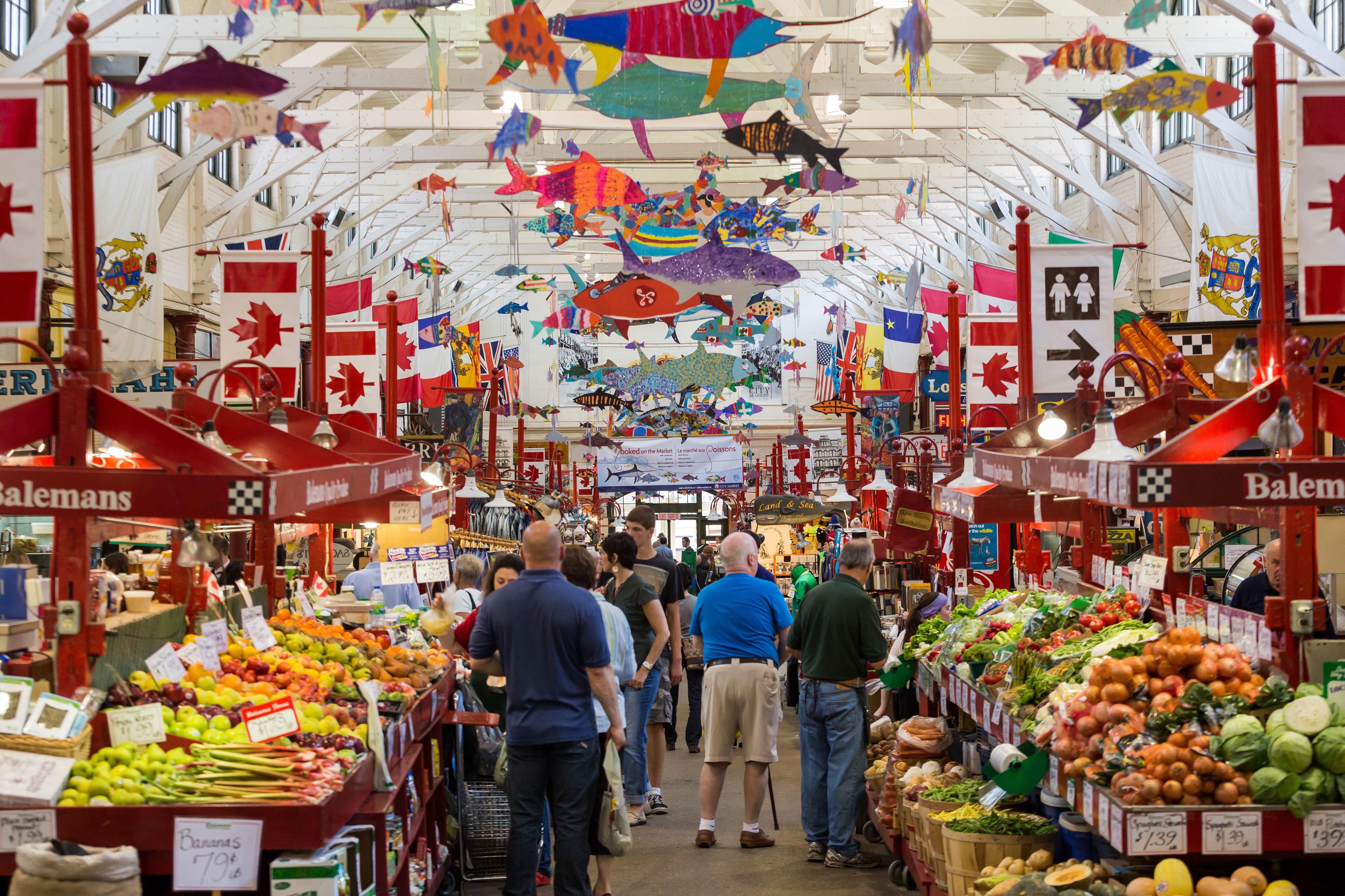 A photograph depicting Saint John City Market Overhead Fish