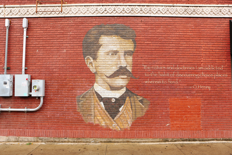Austin Texas O Henry Wall Mural