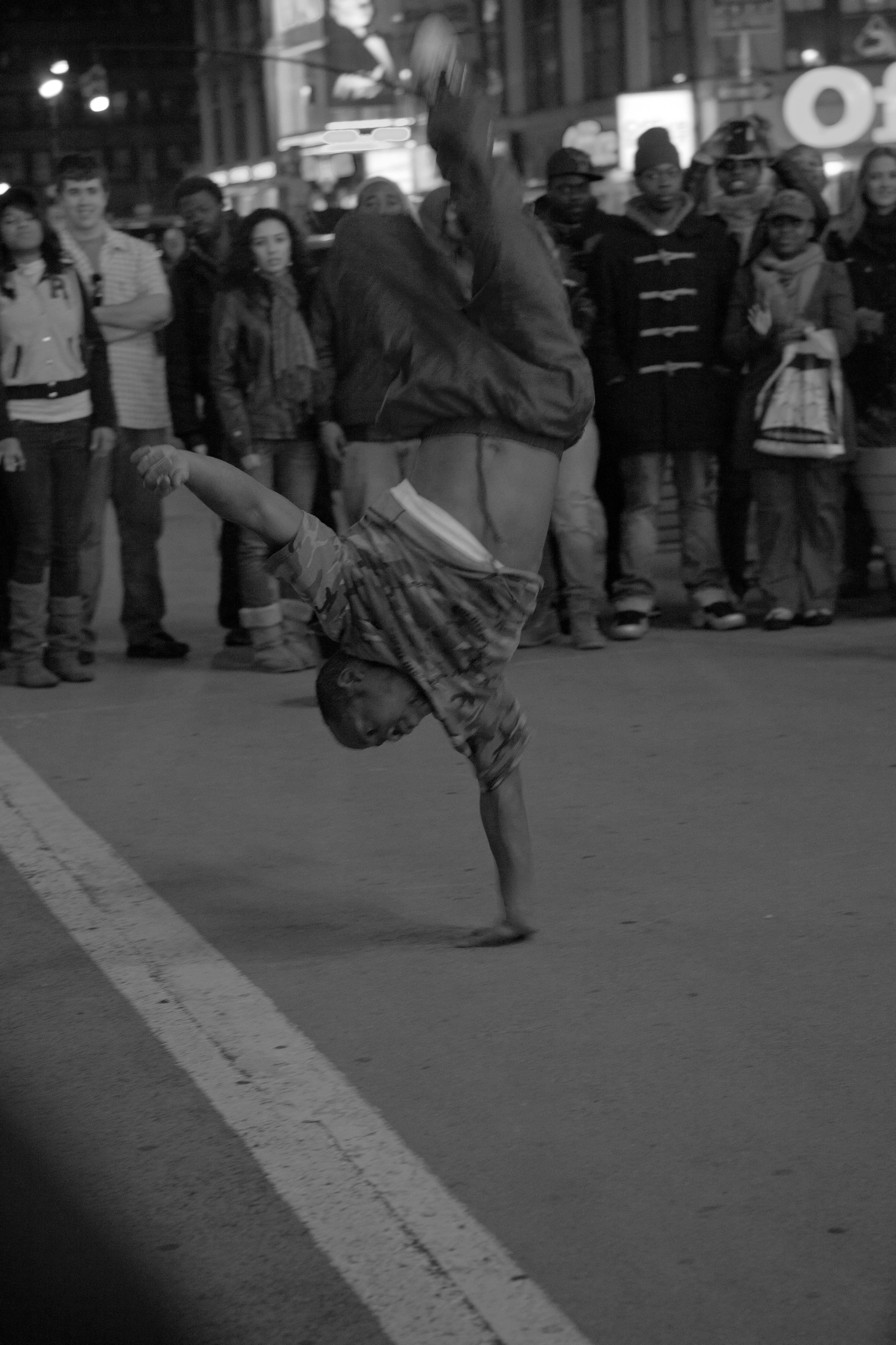 New York City Breakdancing One Hand