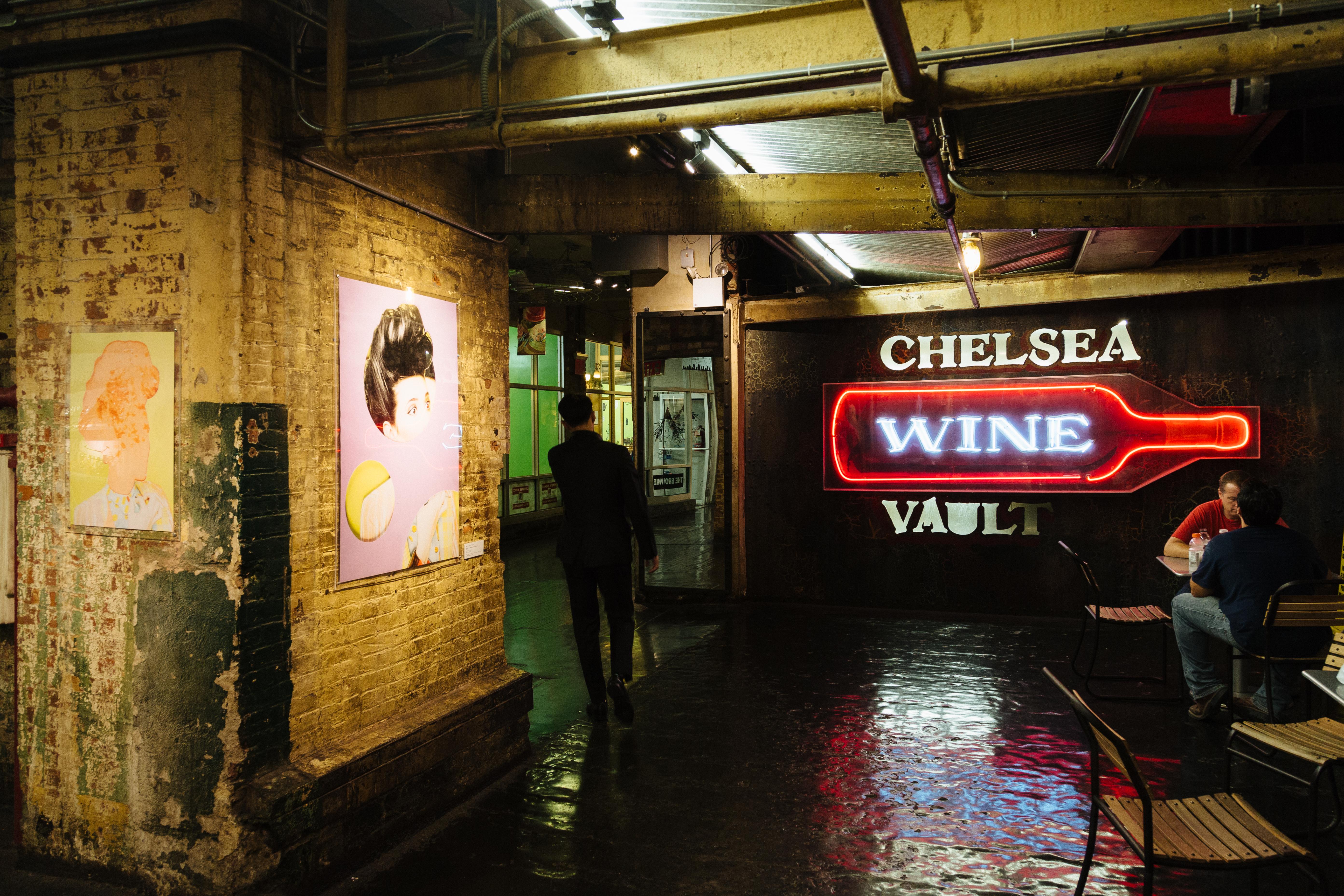 New York City Chelsea Market Wine Sign