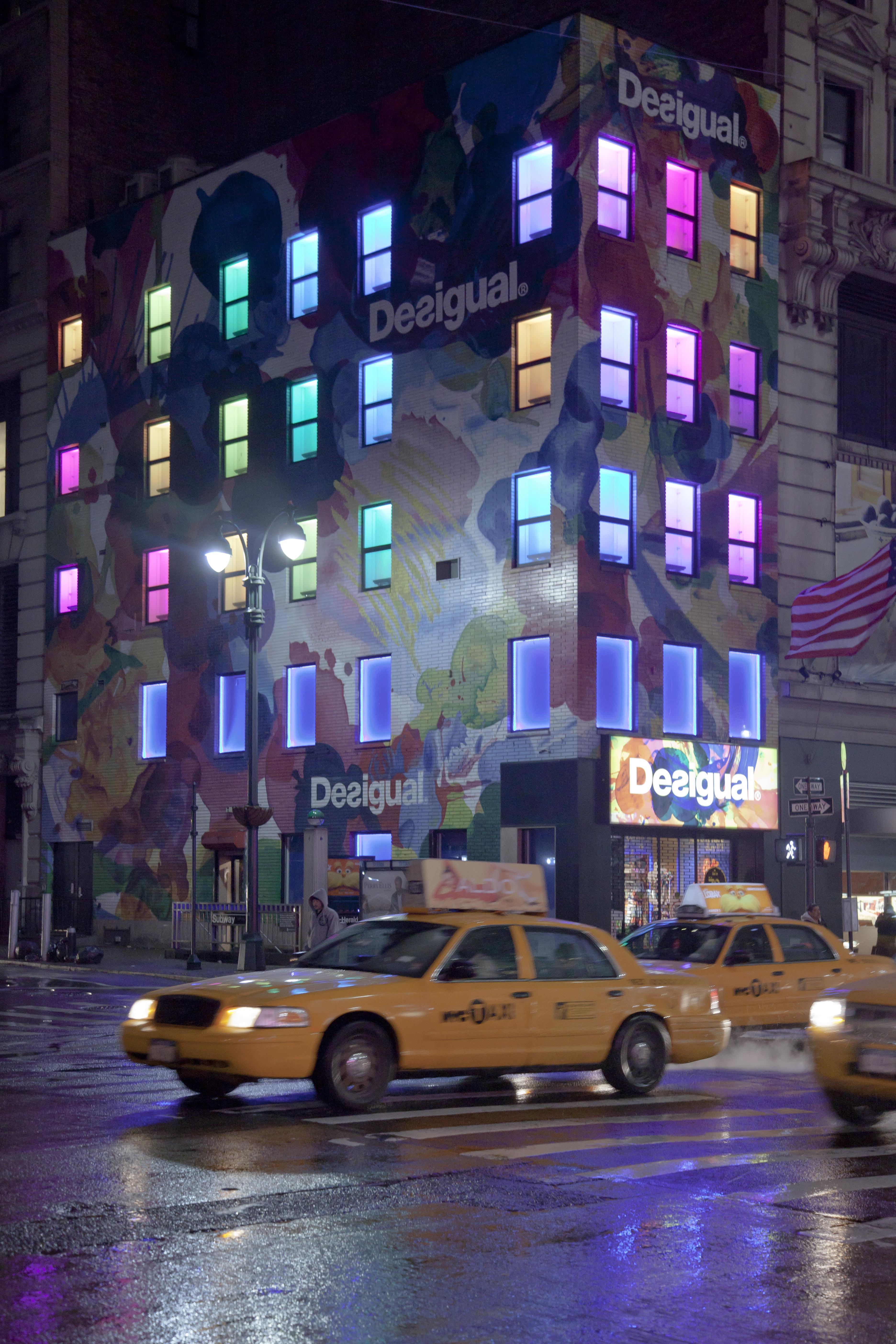New York City Desigual Store At Night