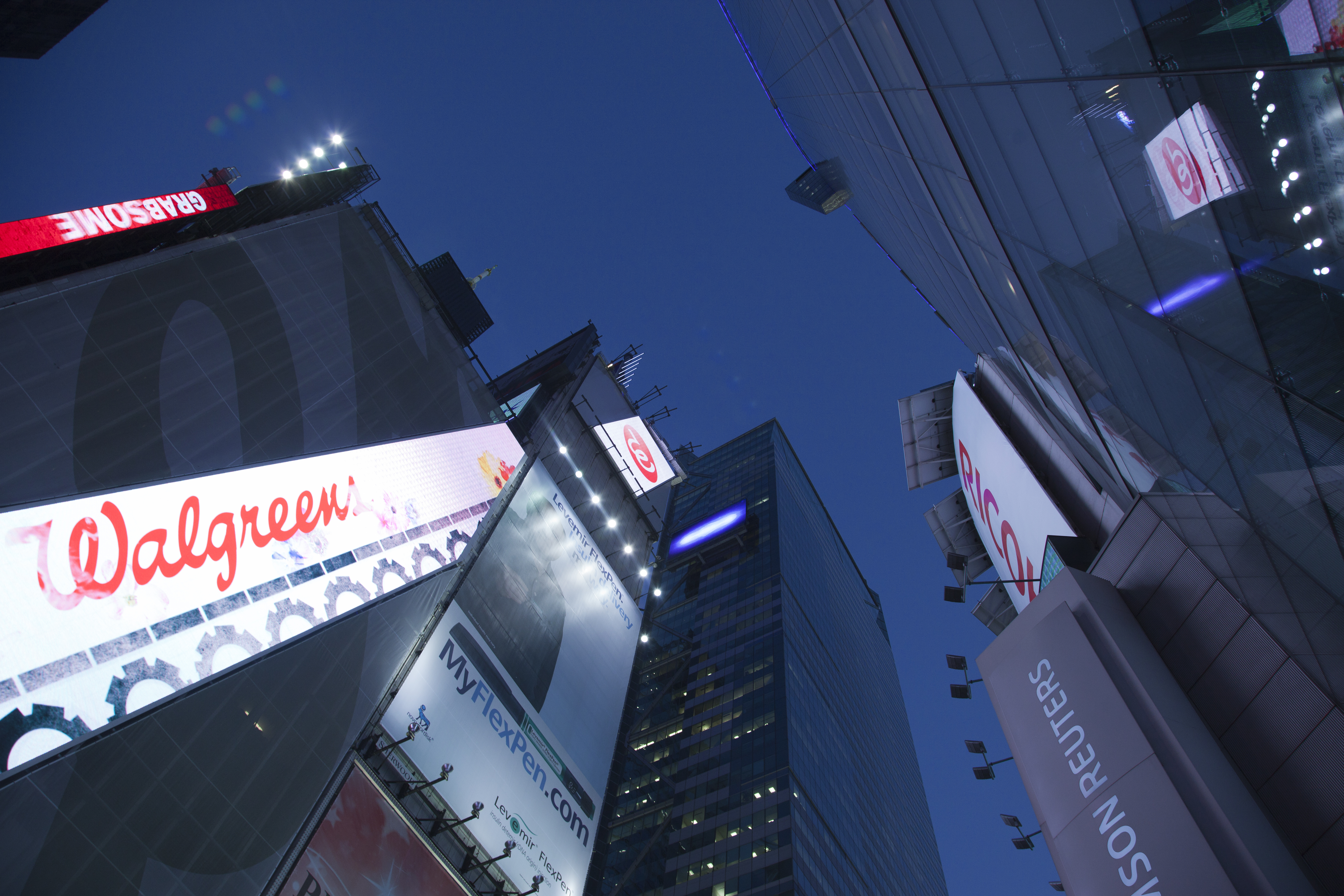 New York City Times Square Look Up