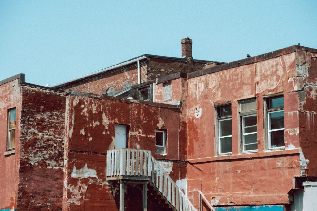 A photograph of Back of Building on Union Street
