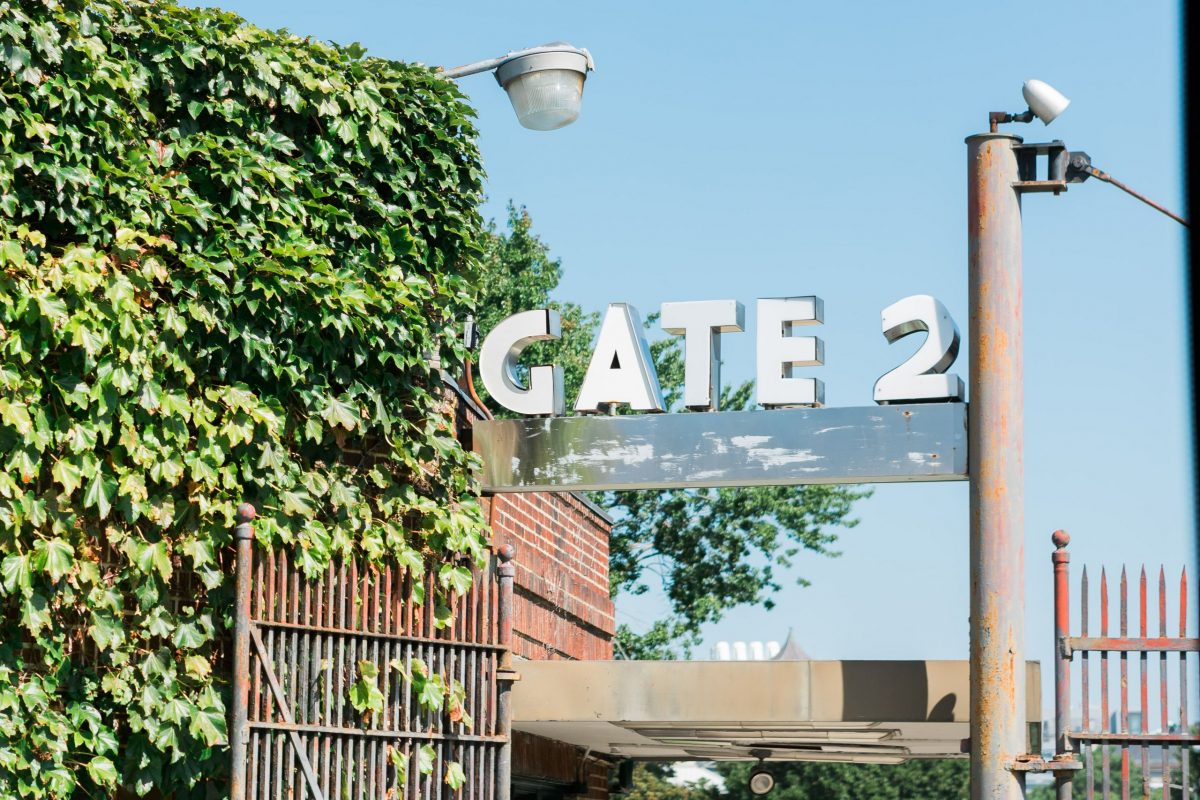 A photograph of Gate 2 – Boston Massachusetts