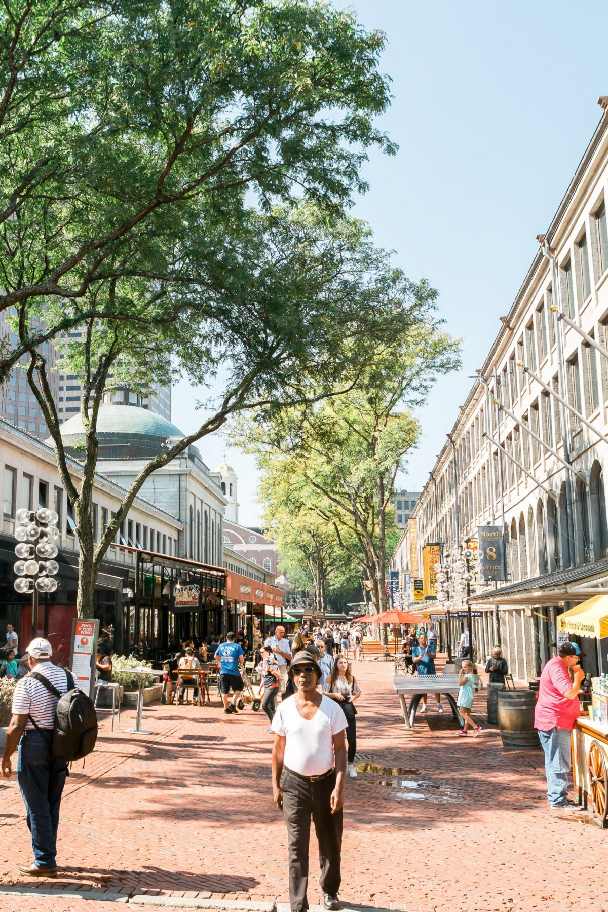 A photograph of Faneuil Hall Marketplace – Boston