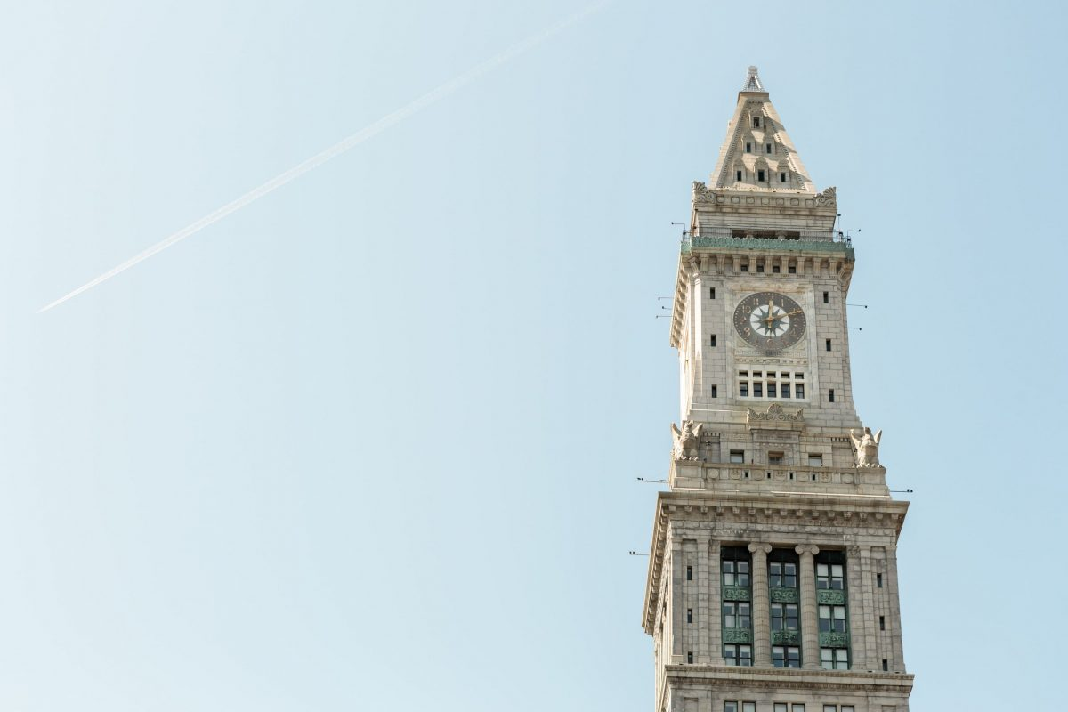 A photograph of Custom House Tower in Boston