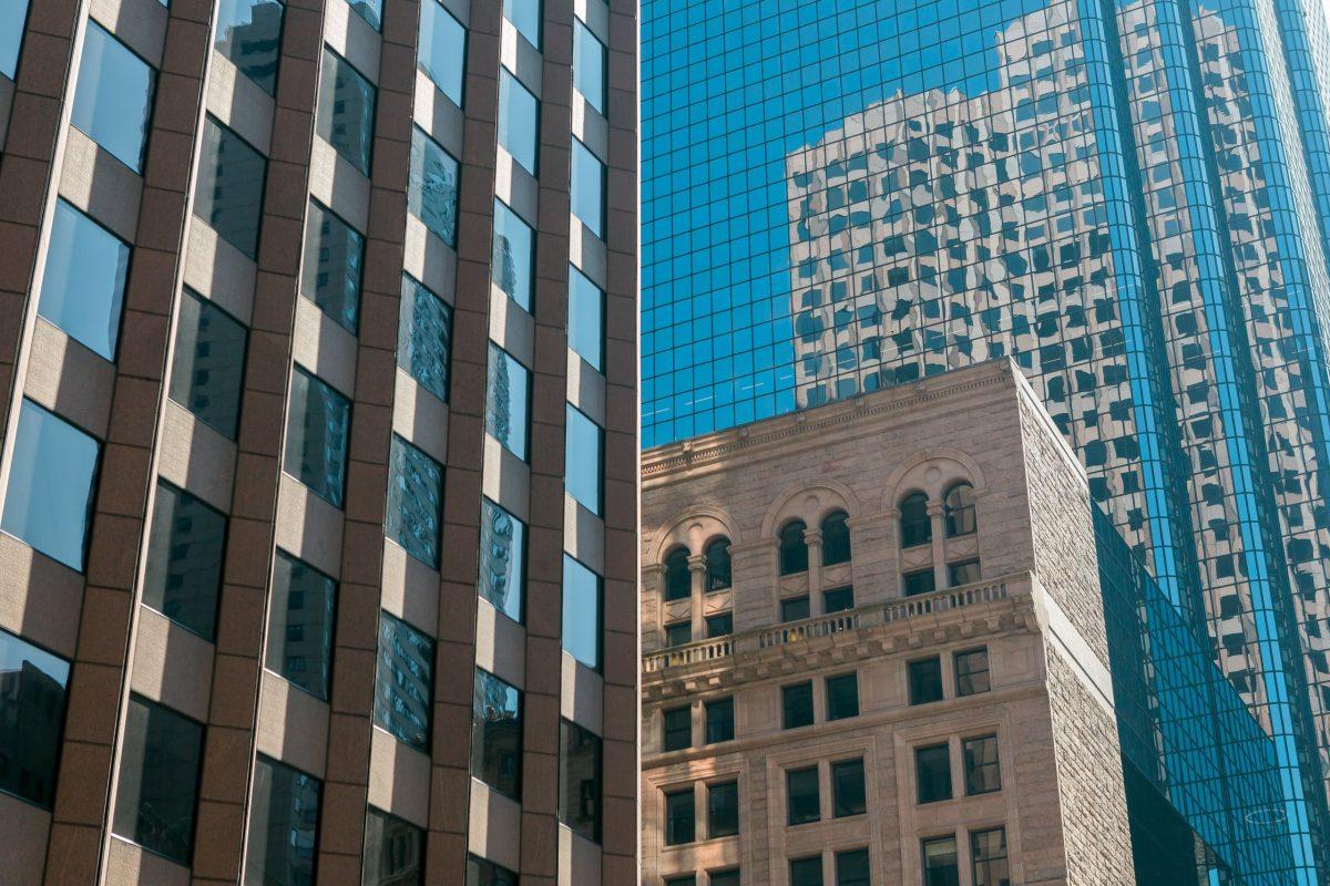 A photograph of Boston Massachusetts Buildings