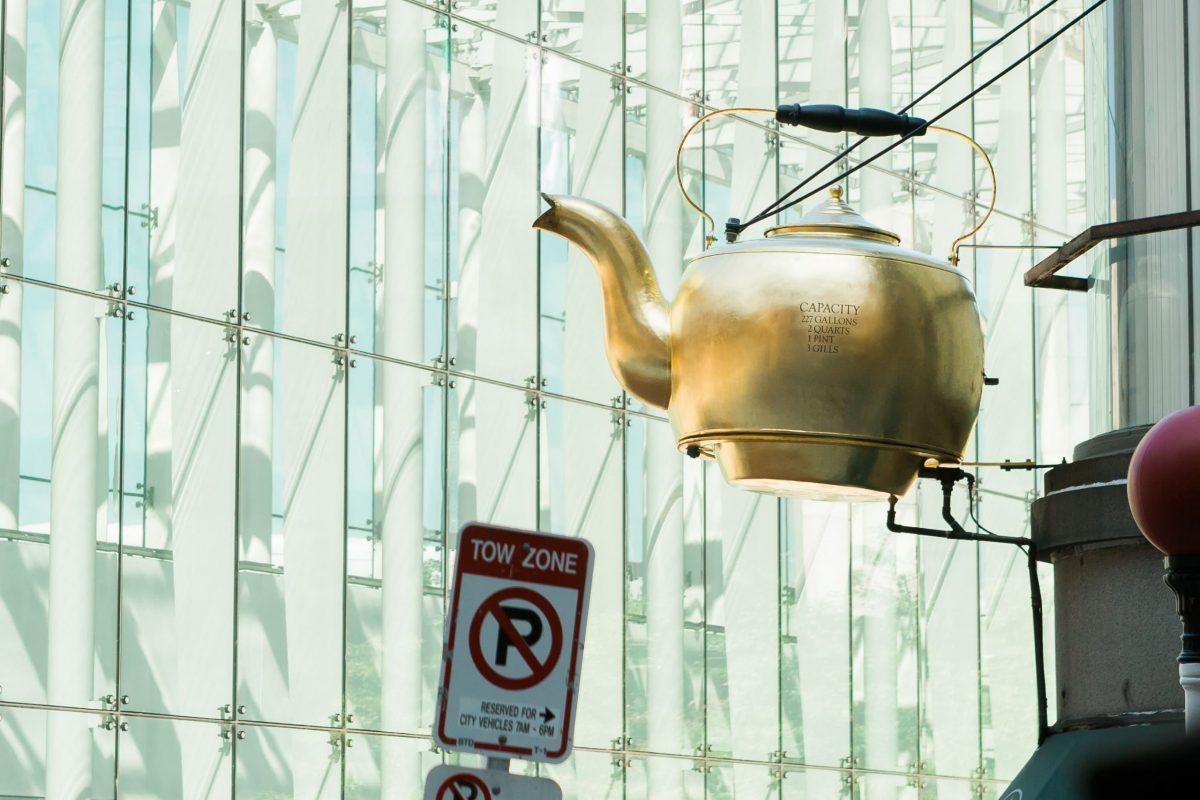 A photograph of Golden Tea Pot – Boston Massachusetts