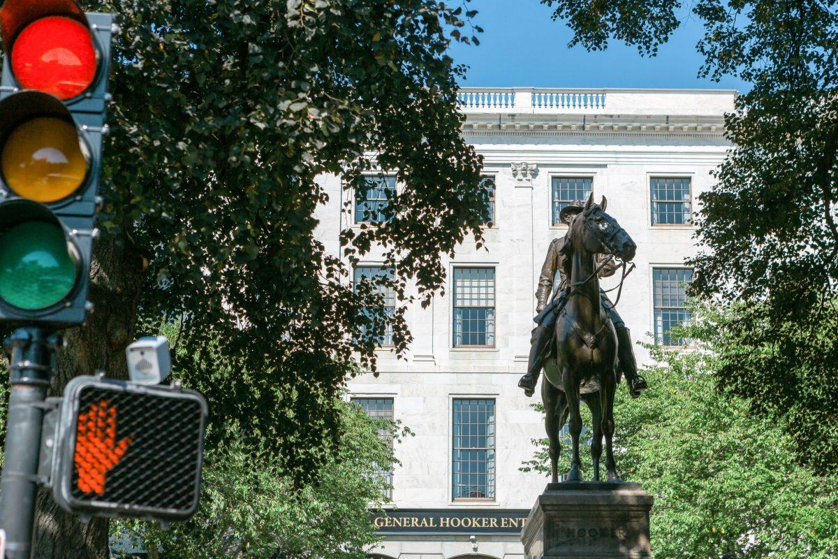 A photograph of Lieutenant General George Washington Statue – Boston