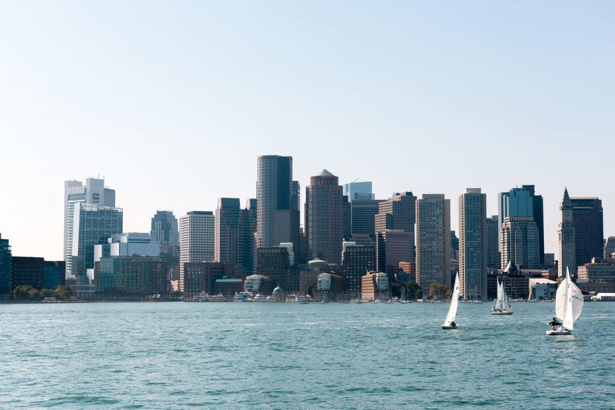 A photograph of Boston Massachusetts Waterfront