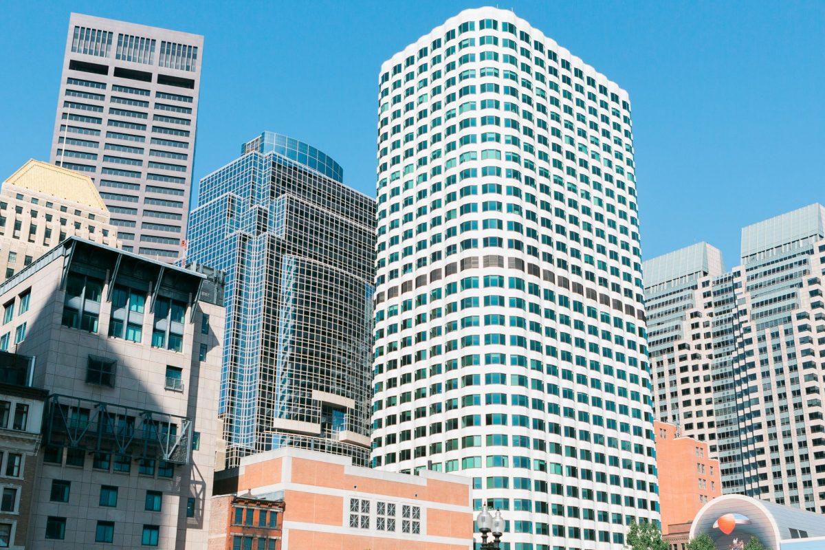 A photograph of Boston City Buildings