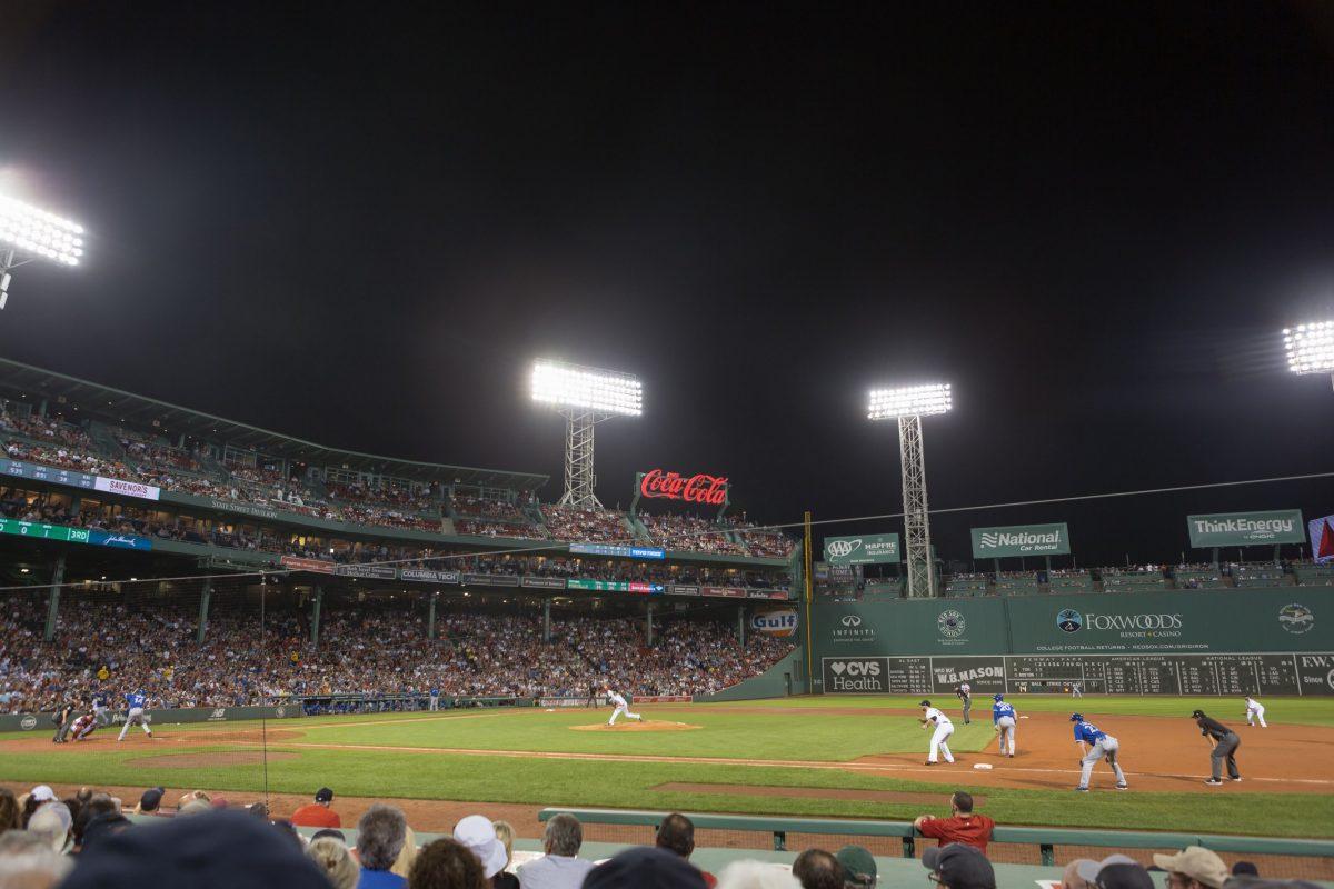 A photograph of Fenway Park Photograph in Boston Massachusetts