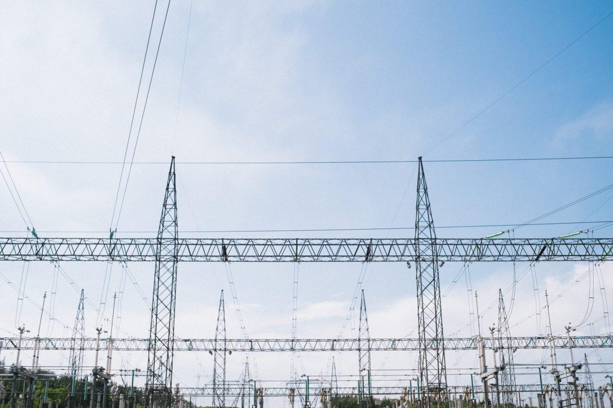 Power Line Transmission Centered