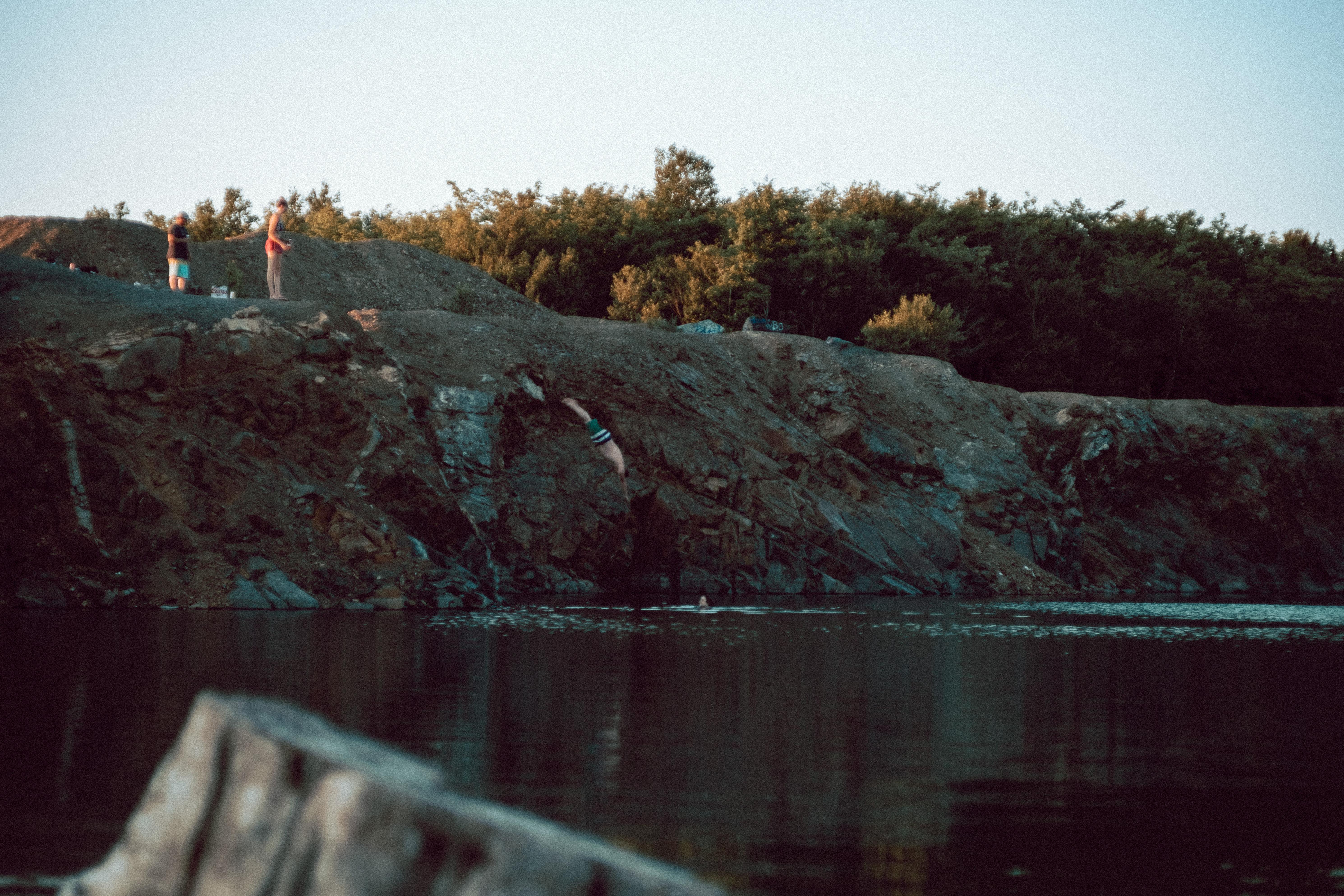 Man Diving At The Cuts New Brunswick