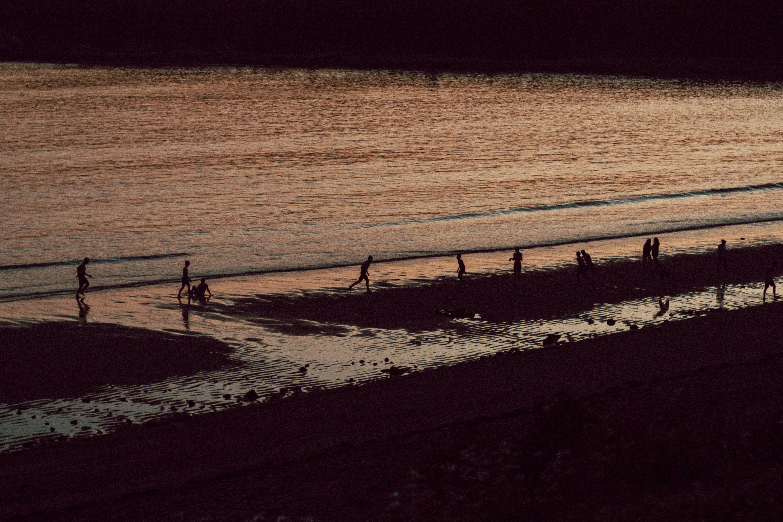 Mispec Beach Kids Playing at Dusk