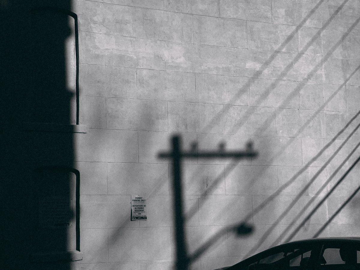 Telephone Line Shadows Off Canterbury Street